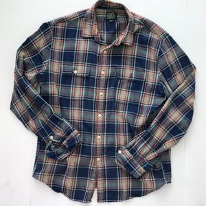 Men's J Crew sports flannel size large